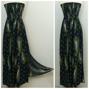 Xhilaration Girls Printed Strapless Maxi Dress